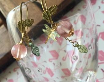 Pinkish Berry earrings