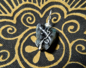 Emerald Wire Wrap Necklace
