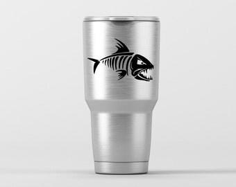 Boney Fish (2) / Yeti Decal / Vinyl Decal / Yeti Tumbler Decal / Yeti Cup Decal / RTIC / ***Tumbler Available***