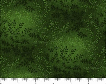 "108"" Quilt Backing Dark Green on Green"