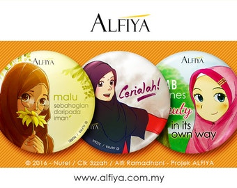 Hijab : Button Badge Set