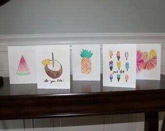 Fruit Set of 5 Cards