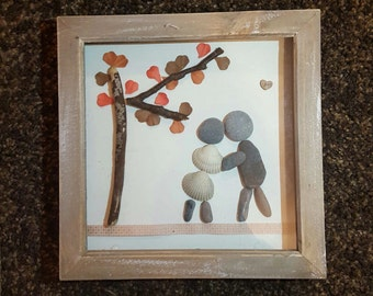 Pebble art frames