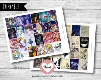 50% OFF SALE  Alice in Wonderland Planner,Alice in wonderland stickers,disney planner,full boxes,eclp disney,Alice in wonderland quote-COD80