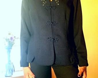 Vintage, Artistic Dark Blue Jacket