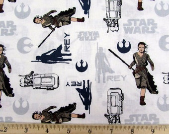 Star Wars Force Awakens Fabric Storm Troopers deep blue green background from Camelot Fabric