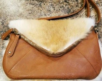 Leather Fur Purse