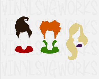 Hocus Pocus Sisters Only SVG FILE