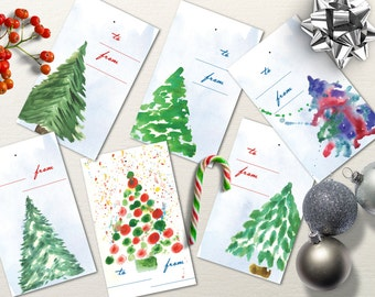 Christmas Favor Tags Printable, Christmas Tags, Printable Christmas Tags, Instant Download Christmas Gift Tags.