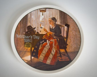 A Mother's Pride - Norman Rockwell - Edwin Knowles 1980 limited edition VINTAGE collector plate