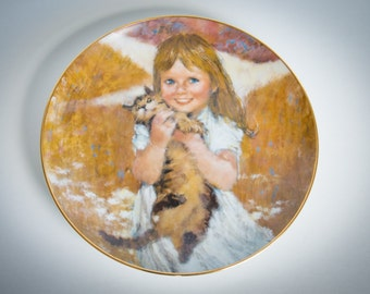Precious Moments Collection - My Kitty by Thornton Utz - 1980 VINTAGE collector plate - Viletta