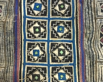 Vintage tribal Hmong batik fabric in Mu Cang Chai village,north of Vietnam