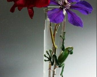 Frog Cylinder Vases