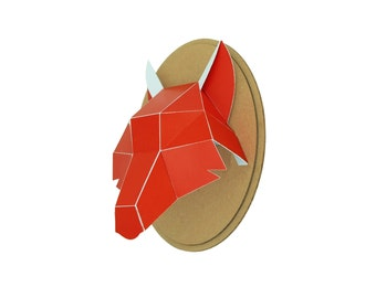 Trophy paper - Wolf head - red