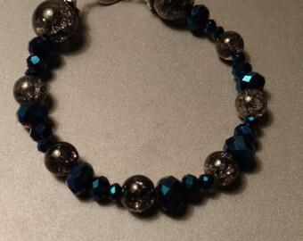 Blue and Grey Bracelet