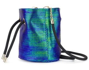 Bucket Bag, Iridescent Green