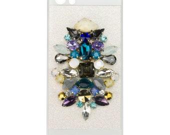 Hand Embellished Blue iPhone 5 case
