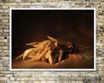 Wheaten gift print, digital artwork, color photography, traditional, classical, instant download