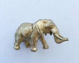 Gold Elephant Place Card Holder