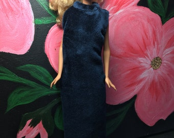 Barbie Doll Velvet Dress
