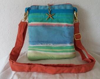 Ocean stripes cross body bag