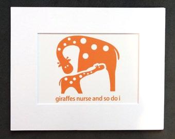Giraffes Nurse and So Do I Illustration