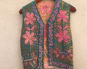 Reversible Vintage Embroidered Vest