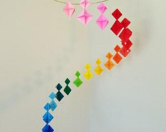 Rainbow Origami Hanging Mobile