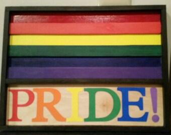Gay Pride, Human Rights wood Plaque