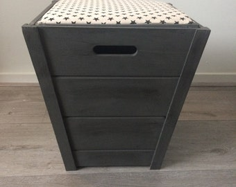 Storage Chest Grey/White