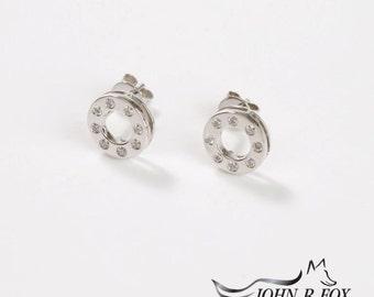 Polo 18ct Gold & Diamond Earrings