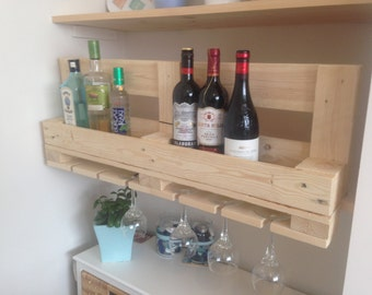 Wine rack and glass shelving