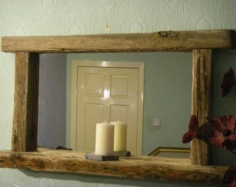 Reclaimed Barn Beam Mirror