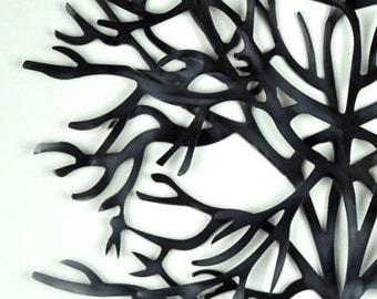 Metal Wall Art, Leafless Tree, Wall Decor, Minimalist Wall Art, Modern Wall Art, Upcycled Recycled Repurposed, Gift for Gardener, Garden Art