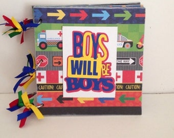 Boys Will Be Boys 8 x 8 Chipboard Album