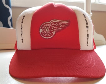 Detroit Red Wings '80s-'90s Vintage Trucker Hat