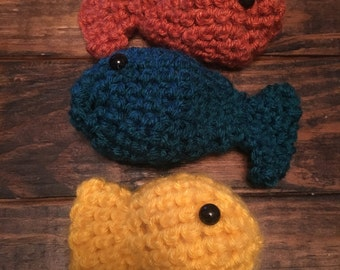 Little Guppies Crocheted Fish