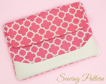 Laptop Case Pattern, DIY Laptop Case, Sewing Pattern PDF, Laptop Sleeve Pattern, Clutch Pattern, Book Bag Pattern, Laptop Pattern (B902)