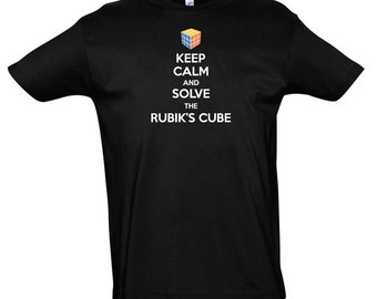 T-Shirt Men/Kids Keep Calm and Solve The Rubik's Cube