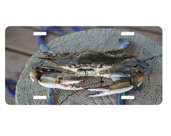 Crab License Plate Etsy