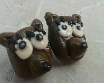 Cute Teddy Bear Clay Earrings