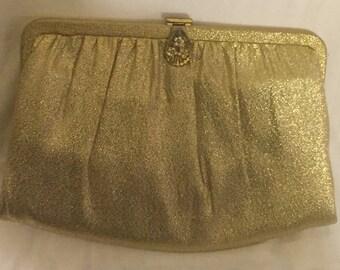Gold Lame Vintage Clutch