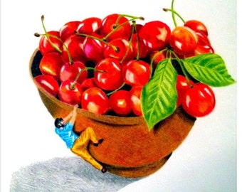 Painted fruit cherry