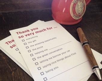 Thank You Note Cards, Flint, MI