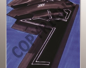 B2 Bomber A3 high quality print