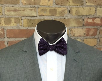 Deep Purple Silk Bow Tie
