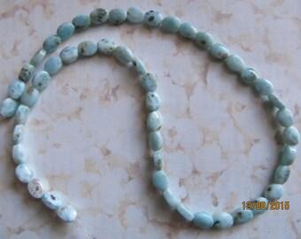 "6mm Oval Nugget Lamimar Gemstone Beads 16"" strand"
