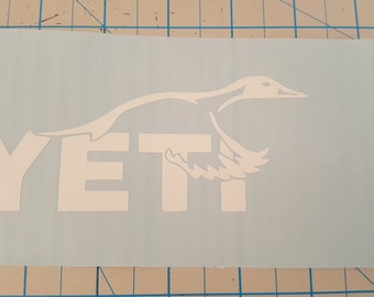 Yeti Duck Logo Vinyl Decal