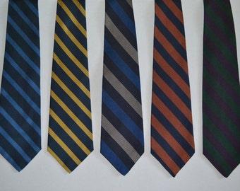 Set of 5 - Vintage - Ralph Lauren/Polo Ties - Stripes - 100% Silk