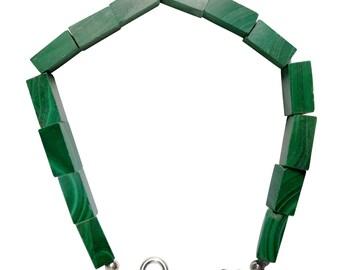 WCJ 925k Silver Chakra Malachite Bracelet For Power & Business Success